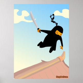 Flying Ninja Posters