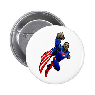 Flying Obama Pinback Button