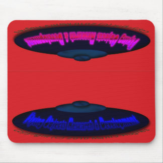 Flying Objects R. & D. in Chrome BLUE and Magenta Mouse Pad