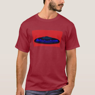 Flying Objects R. & D. in Chrome BLUE and Magenta T-Shirt