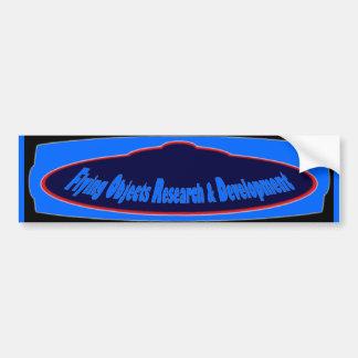 Flying Objects Research & Development (e) Car Bumper Sticker
