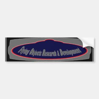 Flying Objects Research & Development (l) Car Bumper Sticker