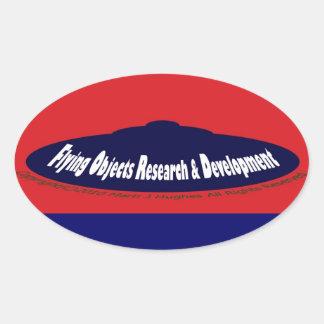 Flying Objects Research & Development Oval Sticker