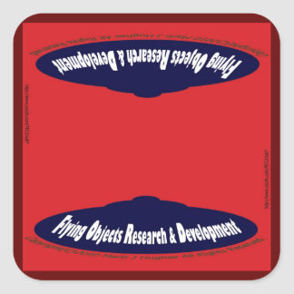 Flying Objects Research & Development Square Sticker
