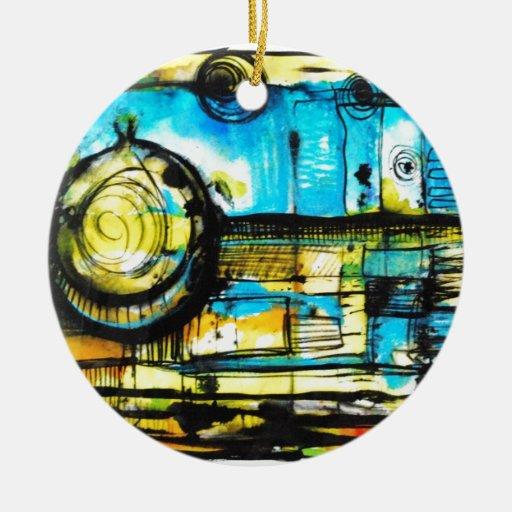 Flying Onion Ceramic Ornament