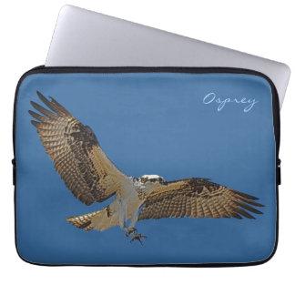 Flying Osprey & Blue Sky Raptor Wildlife Sleeve Computer Sleeve