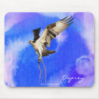 Flying Osprey (Fish Hawk) Wildlife Mousepad