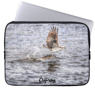 Flying Osprey & Fish HDR Wildlife Photo Gift Computer Sleeve