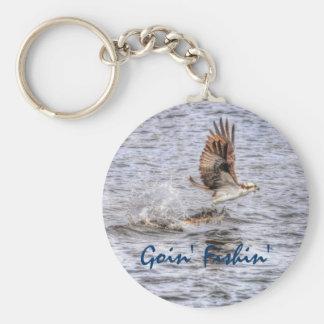Flying Osprey & Fish HDR Wildlife Photo Gift Keychain