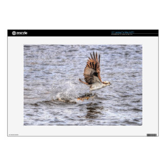Flying Osprey & Fish HDR Wildlife Photo Gift Skin For Laptop