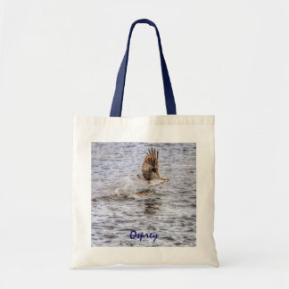 Flying Osprey & Fish HDR Wildlife Photo Gift Tote Bag