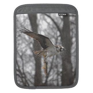 Flying Osprey & Fish Wildlife Photo Scene iPad Sleeve