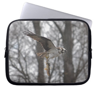 Flying Osprey & Fish Wildlife Photo Scene Laptop Sleeve
