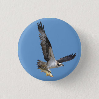 Flying Osprey & Fish Wildlife Photography Button