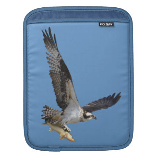Flying Osprey & Fish Wildlife Photography iPad Sleeve