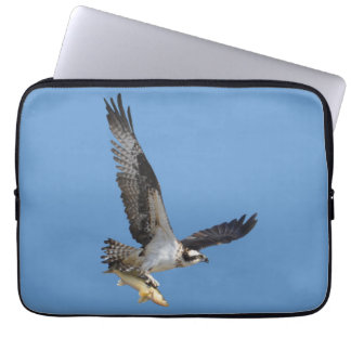 Flying Osprey & Fish Wildlife Photography Laptop Sleeve