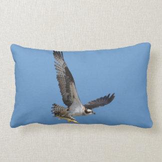 Flying Osprey & Fish Wildlife Photography Lumbar Pillow