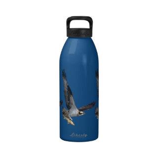 Flying Osprey & Fish Wildlife Photography Drinking Bottles