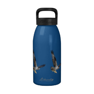 Flying Osprey & Fish Wildlife Photography Drinking Bottle