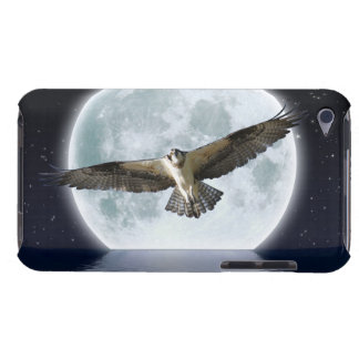 Flying Osprey & Full Moon Wildlife Fantasy Art Barely There iPod Cover