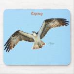 Flying Osprey hawk Mousepad