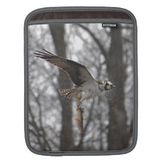Flying Osprey Hunting for Fish Sleeve For iPads