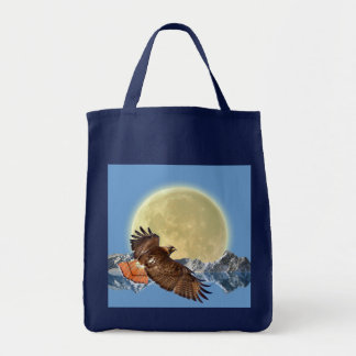 Flying Osprey Hunting for Fish Tote Bag