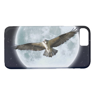 Flying Osprey Hunting under a Full Moon iPhone 7 Case