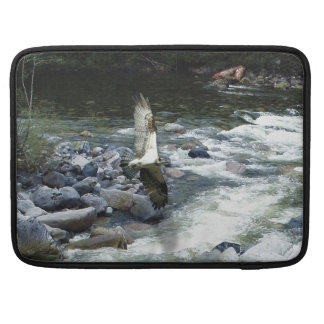 Flying Osprey & River Wildlife Art MacBook Sleeve