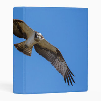 Flying osprey with a target in sight mini binder