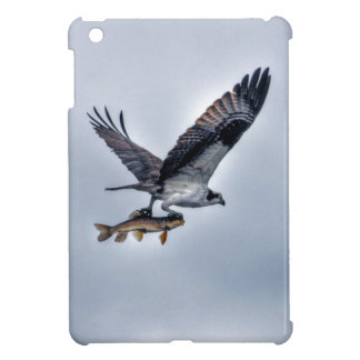 Flying Osprey with Walleye Fish HDR Photo iPad Mini Cases