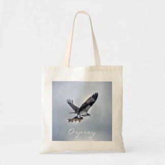 Flying Osprey with Walleye Fish HDR Photo Tote Bag