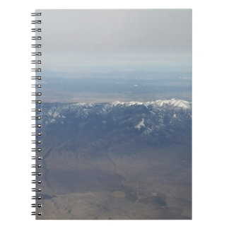 Flying over Arizona Spiral Note Book