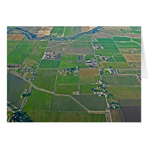 Flying Over Farms Card