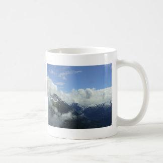 Flying Over the  Blackcomb Mountains Coffee Mug