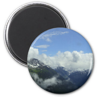 Flying Over the Blackcomb Mountains Refrigerator Magnets