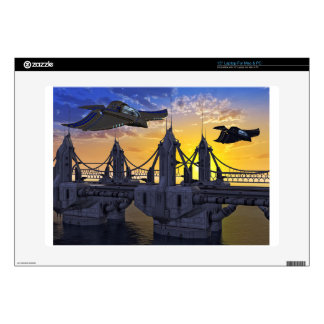 """Flying over the Bridge to the Stars 15"""" Laptop Decals"""