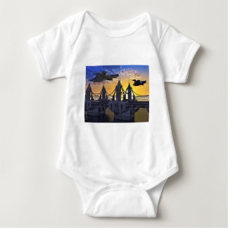 Flying over the Bridge to the Stars Baby Bodysuit