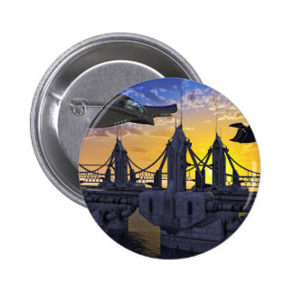 Flying over the Bridge to the Stars 2 Inch Round Button
