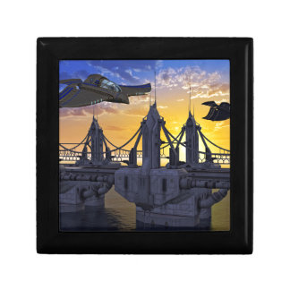 Flying over the Bridge to the Stars Jewelry Box