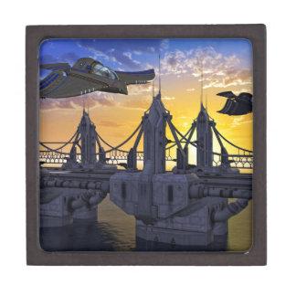 Flying over the Bridge to the Stars Keepsake Box