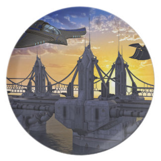 Flying over the Bridge to the Stars Plate
