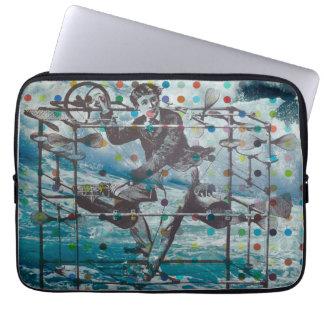 Flying over the ocean laptop sleeve