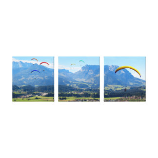 Flying Over the Valley - Triptych Canvas Print