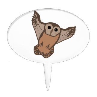 Flying Owl Cake toppers