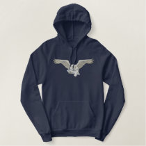 Flying Owl Embroidery Embroidered Hoodie