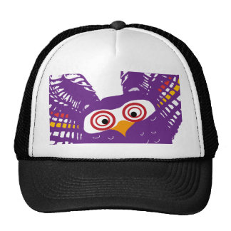 Flying owl mesh hats