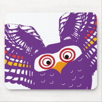 Flying owl mouse pad