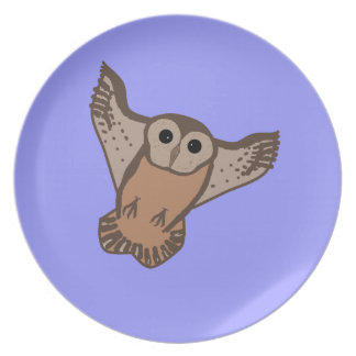 Flying Owl party plates
