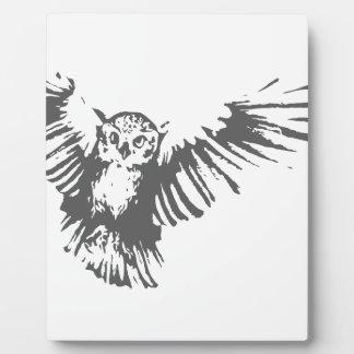 Flying Owl Plaque